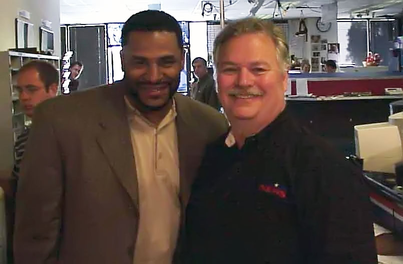 Jerome Bettis & Phil Konstantin, May 20, 2005